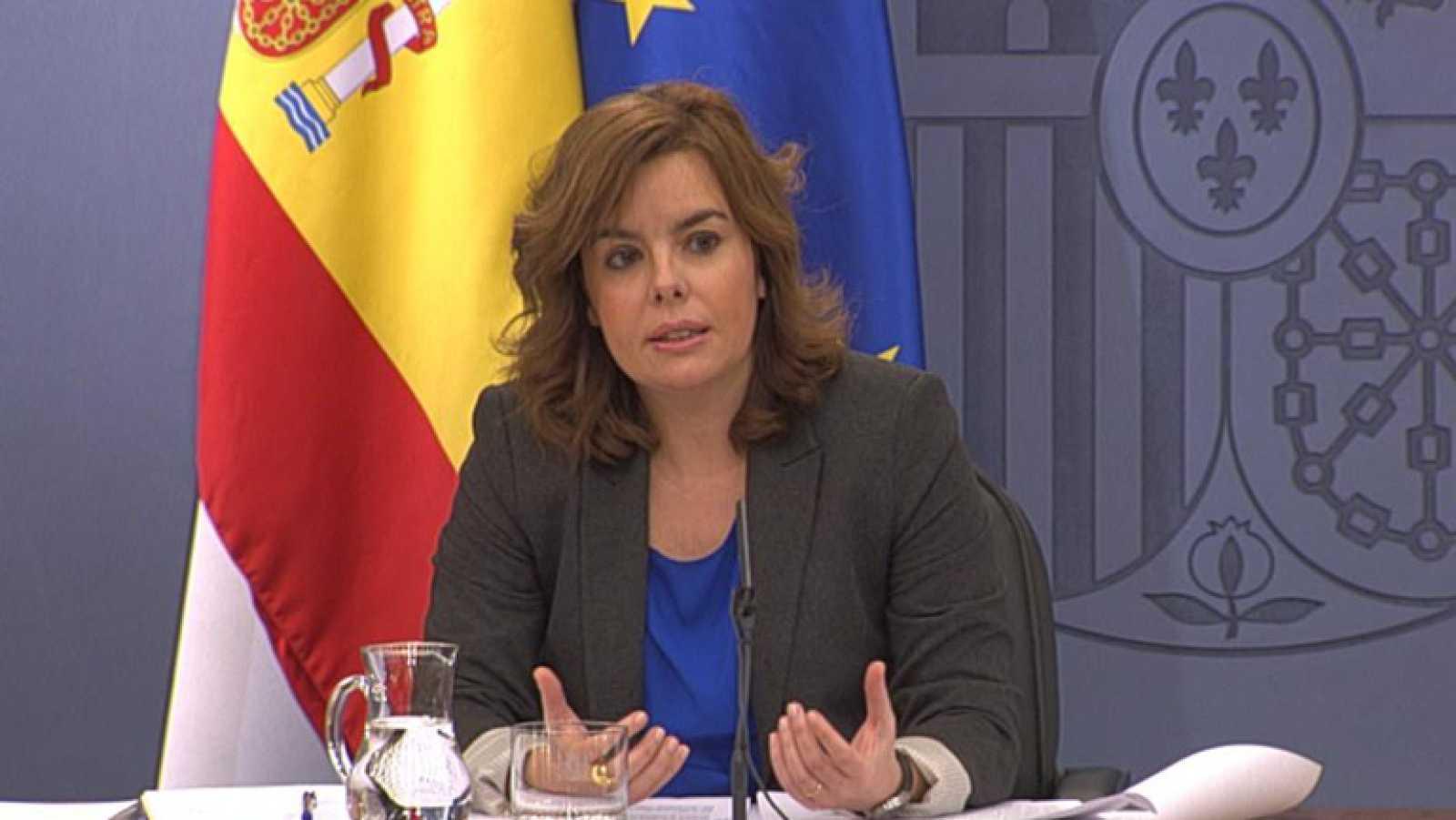 La vicepresidenta del gobierno ha pedido reflexión a los sindicatos
