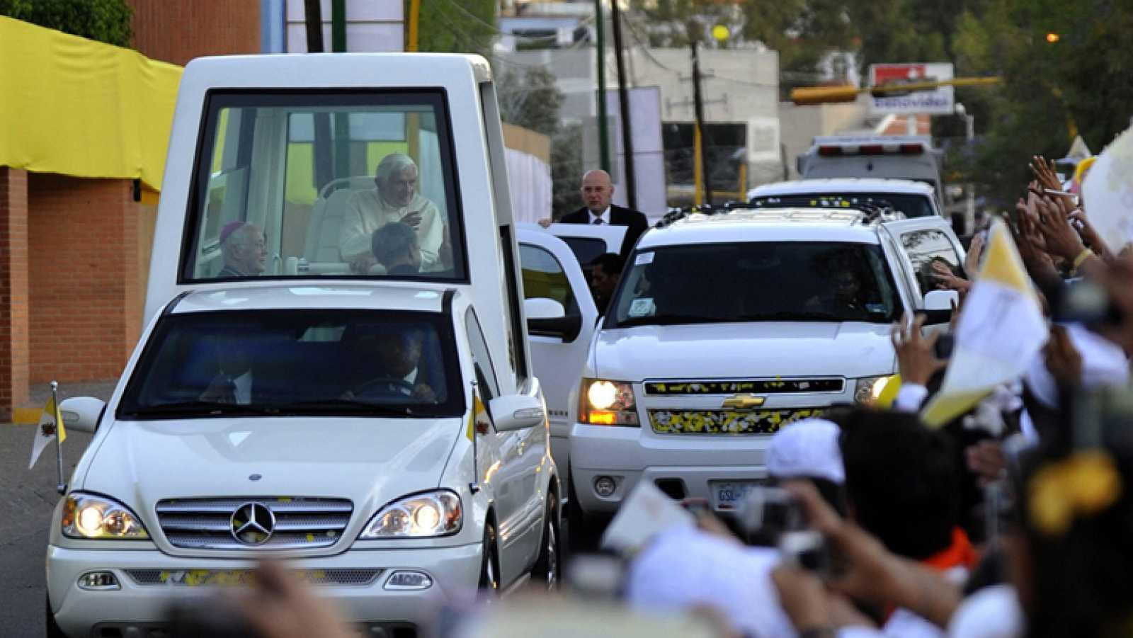 Primera visita de Benedicto XVI a México y segunda a Iberoamérica