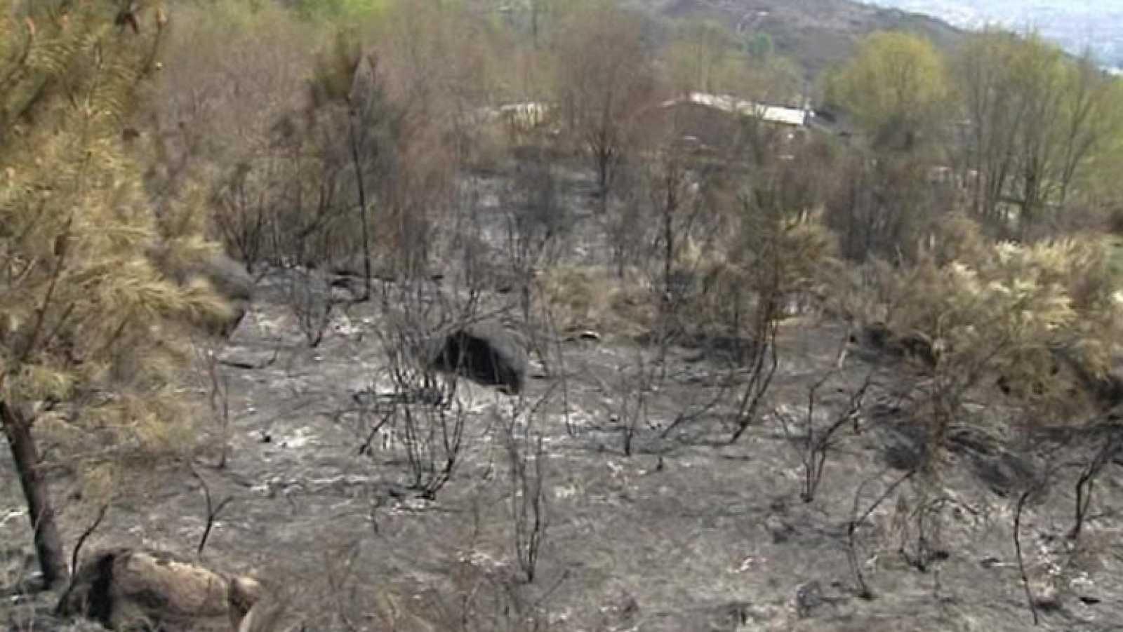 Los bomberos continúan trabajando en la extinción de 4 fuegos en Galicia