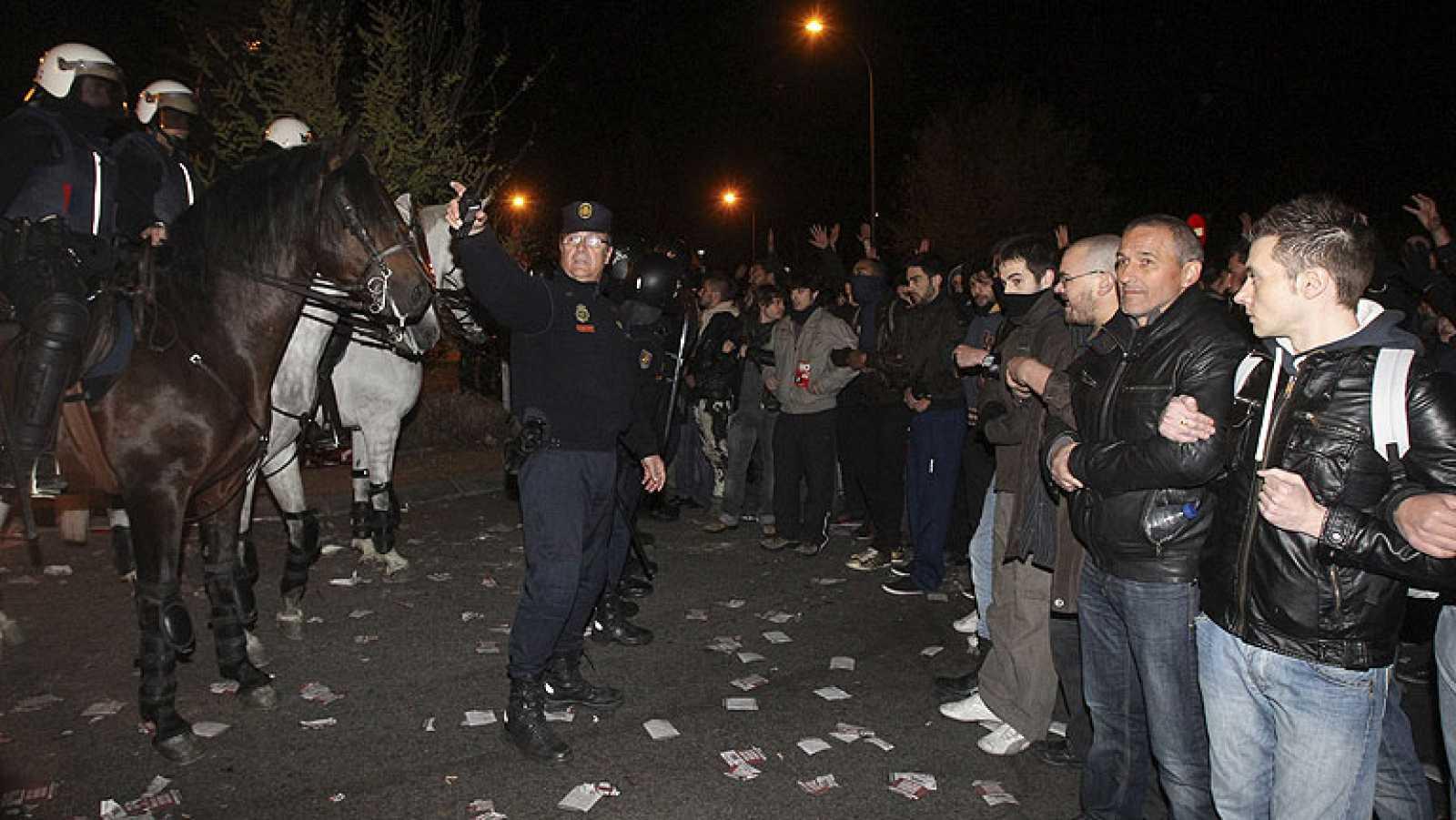 En Madrid los piquetes se han concentrado en el tranposte las primeras horas de la huelga