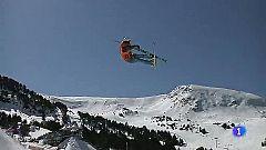 Luca Melloni, tercero en esquí libre, prueba valedera para el Mundial