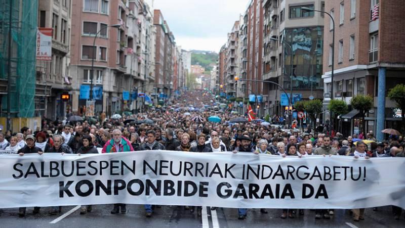Manifestación en Bilbao contra la decisión del Tribunal Constitucional sobre los presos de ETA