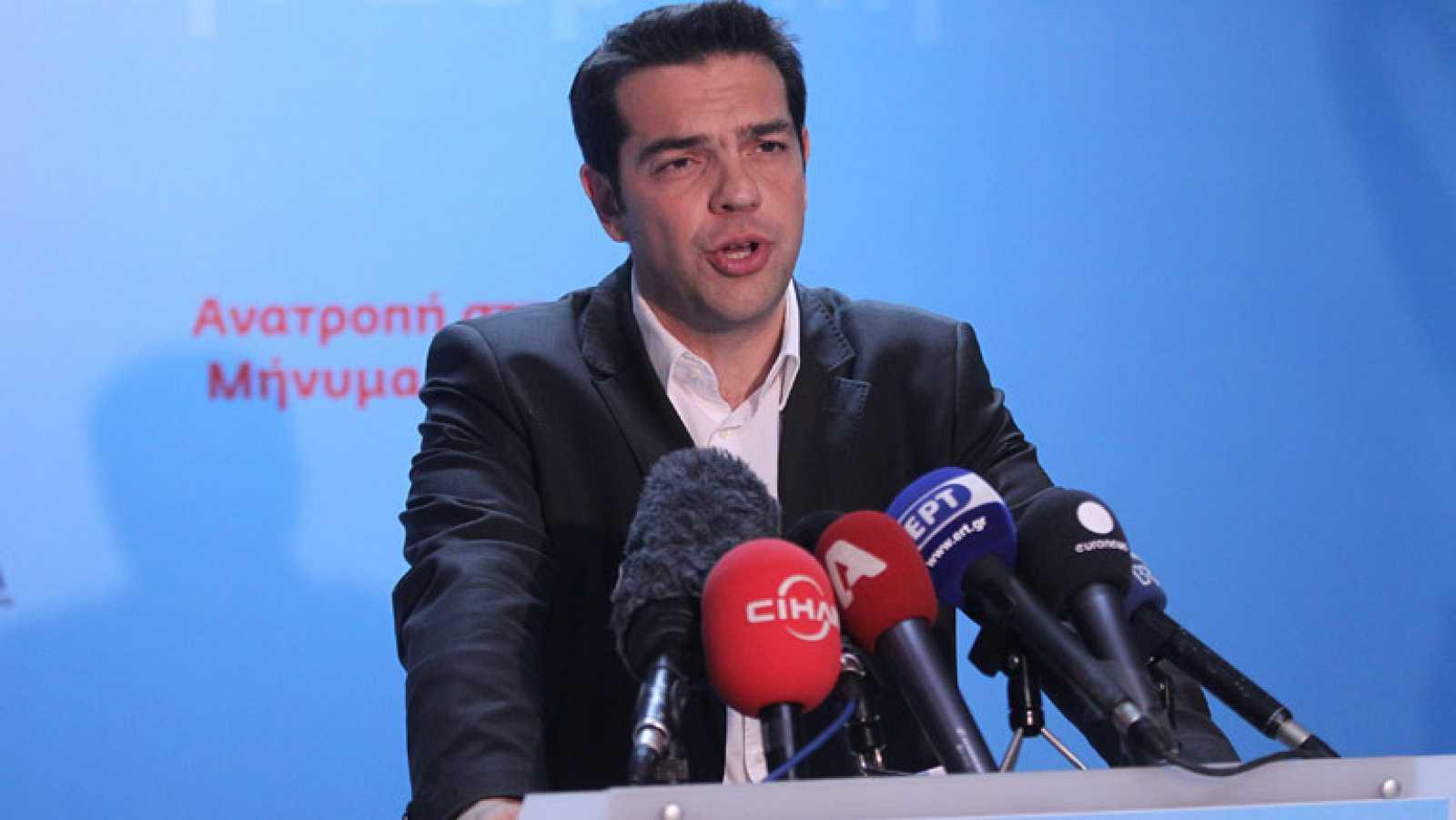 Declaraciones del candidato de Syriza, segundo partido en las elecciones griegas