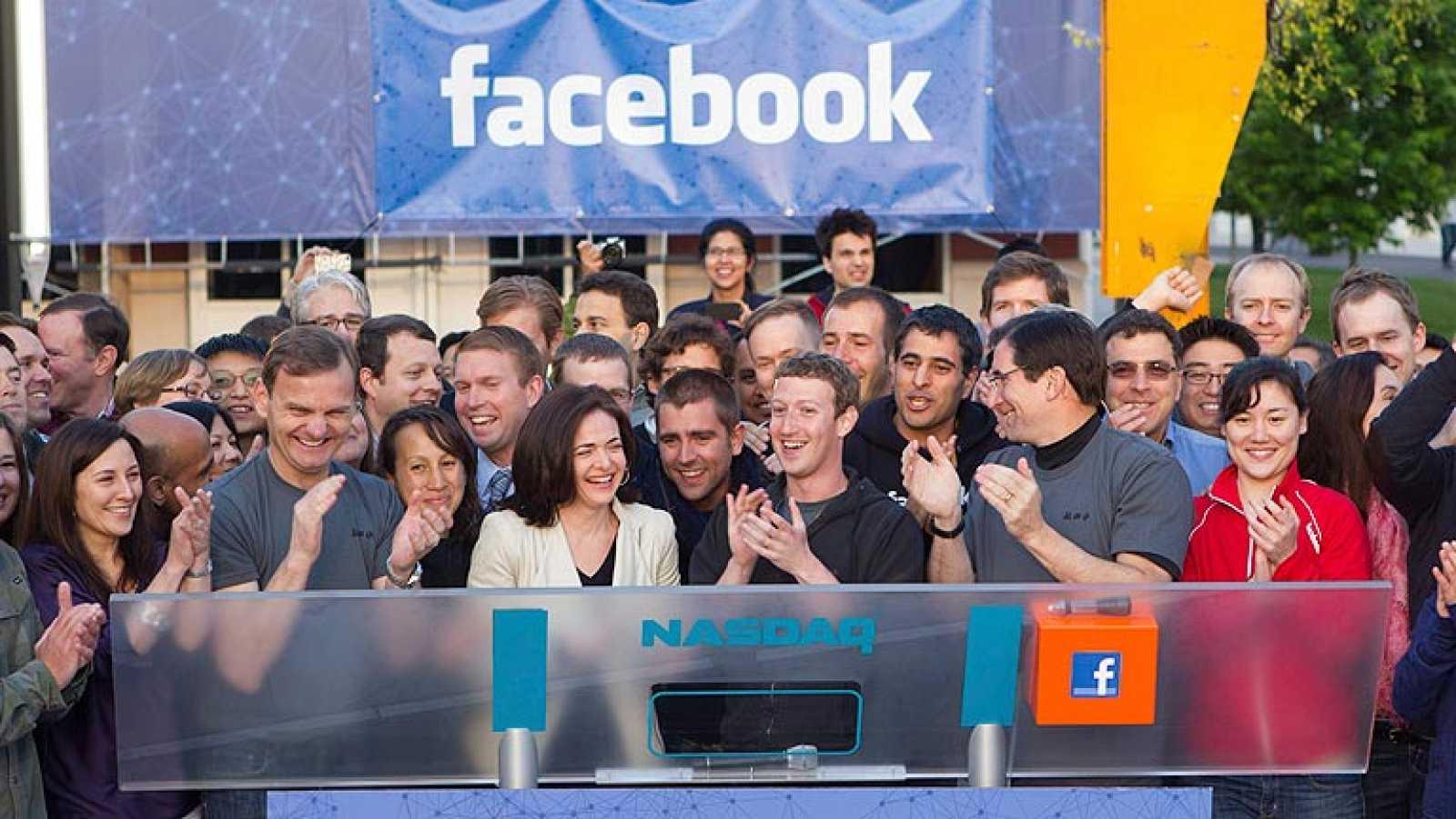 Facebook se estrena en bolsa con grandes subidas