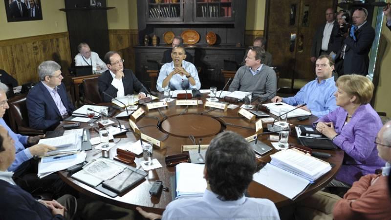 Primera reunión del G8 en Camp David