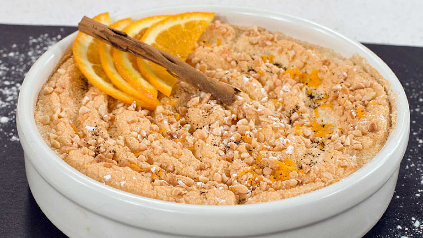 Crema de naranja tostada sin azúcar