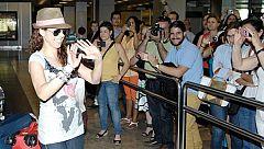 Llegada de Pastora Soler a Madrid en La mañana de La 1
