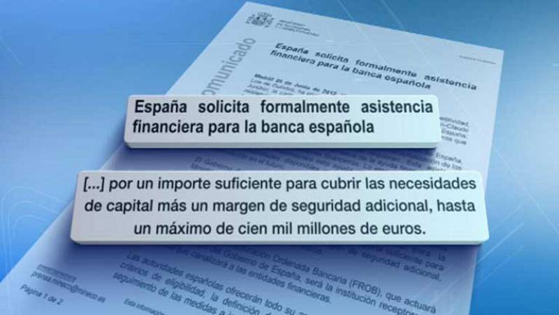 El gobierno hace la petición formal de ayuda financiera a la banca española