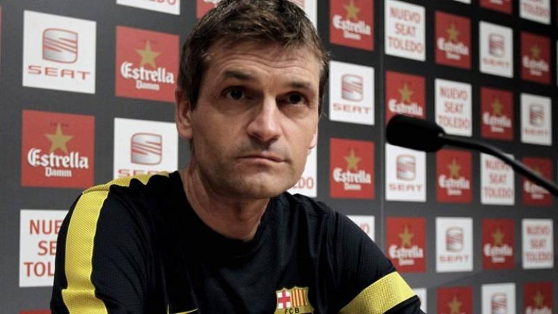 El entrenador del Barça está seguro de que los blancos saldrán a por todas en la vuelta de la Supercopa y cree que los suyos deben hacer por lo menos un gol para lograr el título.