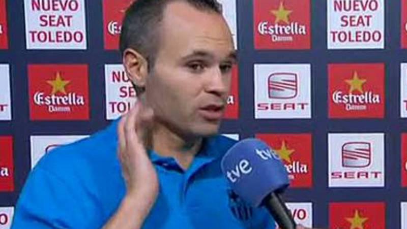 """Iniesta: """"Hemos dado al cara"""""""