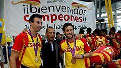 Los atletas paralímpicos, recibidos como héroes