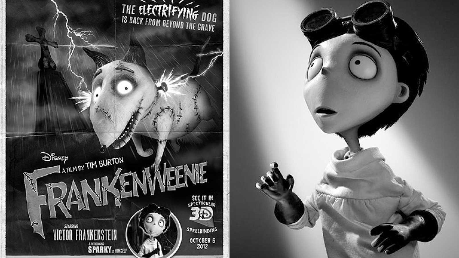 Llega Frankenweenie, un joven Victor Frankestein creado por Tim Burton