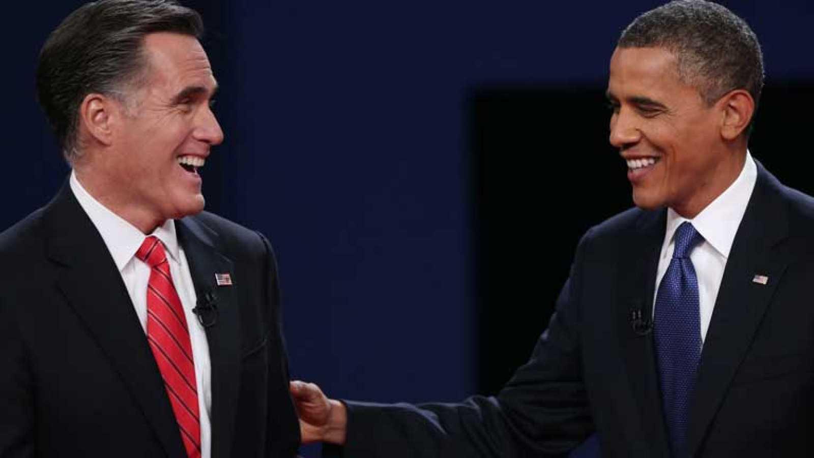 Barack Obama y Mitt Romney se centran en la economía durante su debate
