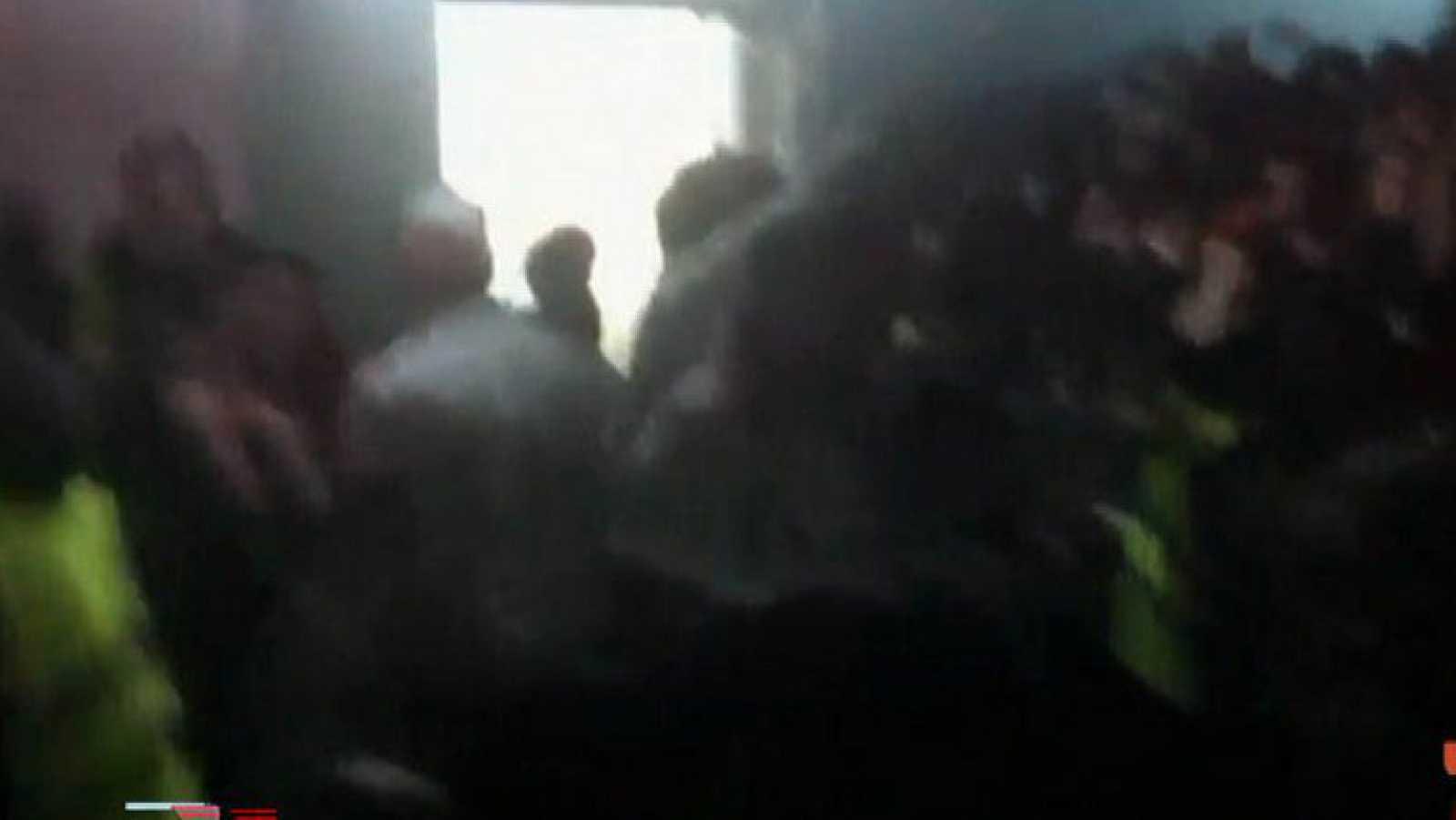 Imágenes de la avalancha en el Madrid Arena