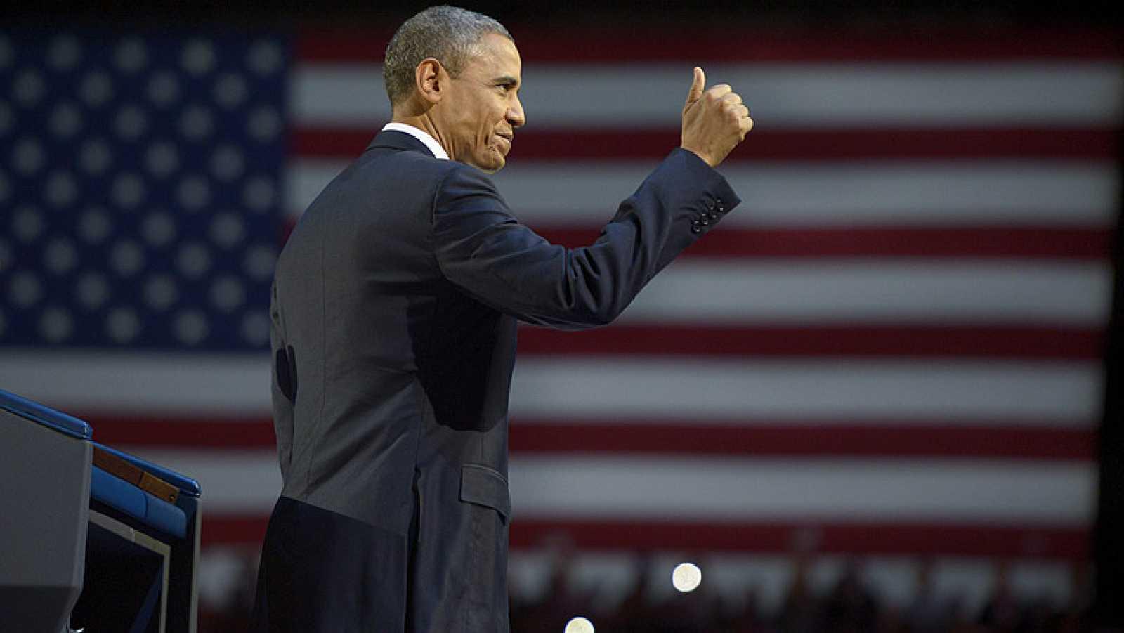 Obama dice que lo mejor está por venir, en su primer discurso tras su víctoria en EEUU