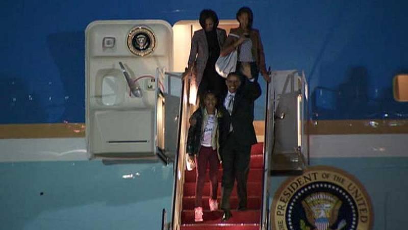 Obama y su familia ya han vuelto a casa, a la Casa Blanca