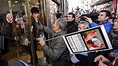 Los comerciantes hablan de un seguimiento minoritario y los sindicatos del 70% en el 14N