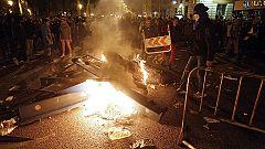 Incidentes en Barcelona y Madrid tras las manifestaciones de la huelga general