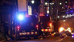 Varios detenidos en incidentes en Madrid y Barcelona después de las manifestaciones del 14N