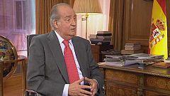 Televisión Española entrevista al rey el 4 de enero
