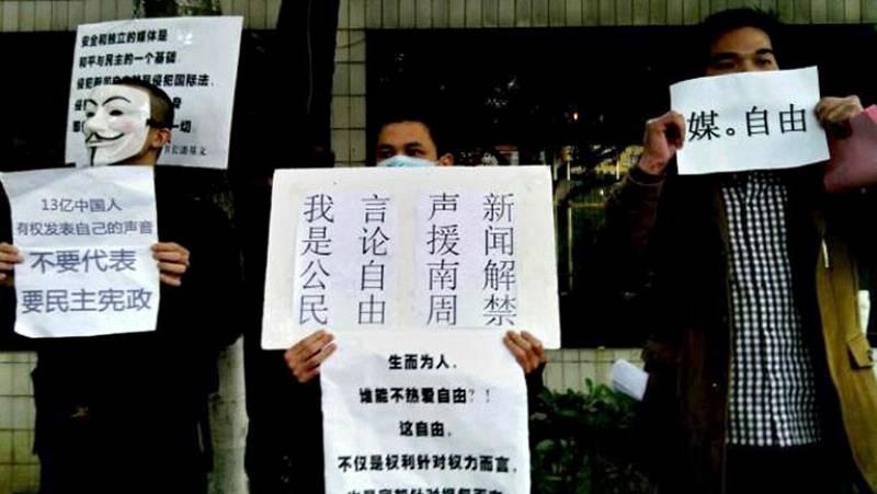 Los periodistas chinos que protestaban por la censura llegan a un acuerdo con las autoridades