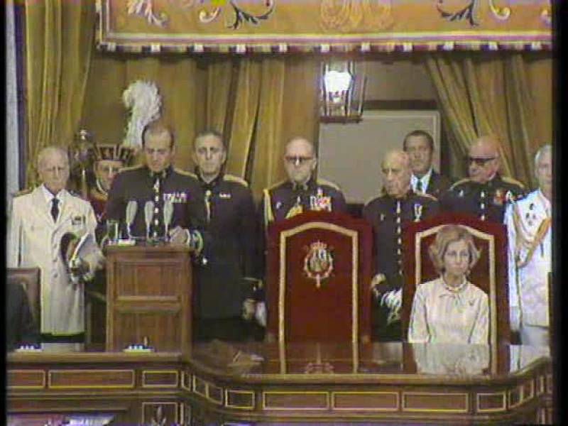 Así se constituyeron las Cortes en 1977