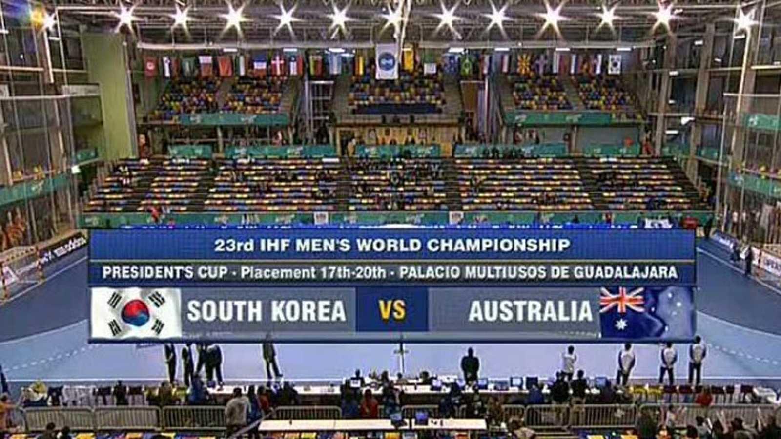 Mundial de Balonmano - President's Cup: Corea del Sur - Australia
