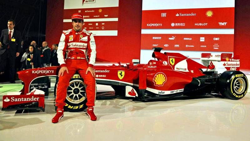 El español Fernando Alonso, doble campeón del mundo de Fórmula Uno, reconoció durante la presentación oficial del nuevo monoplaza de Ferrari, el F138, que se encuentra expectante por los resultados de las primeras pruebas que realizará su compañero F