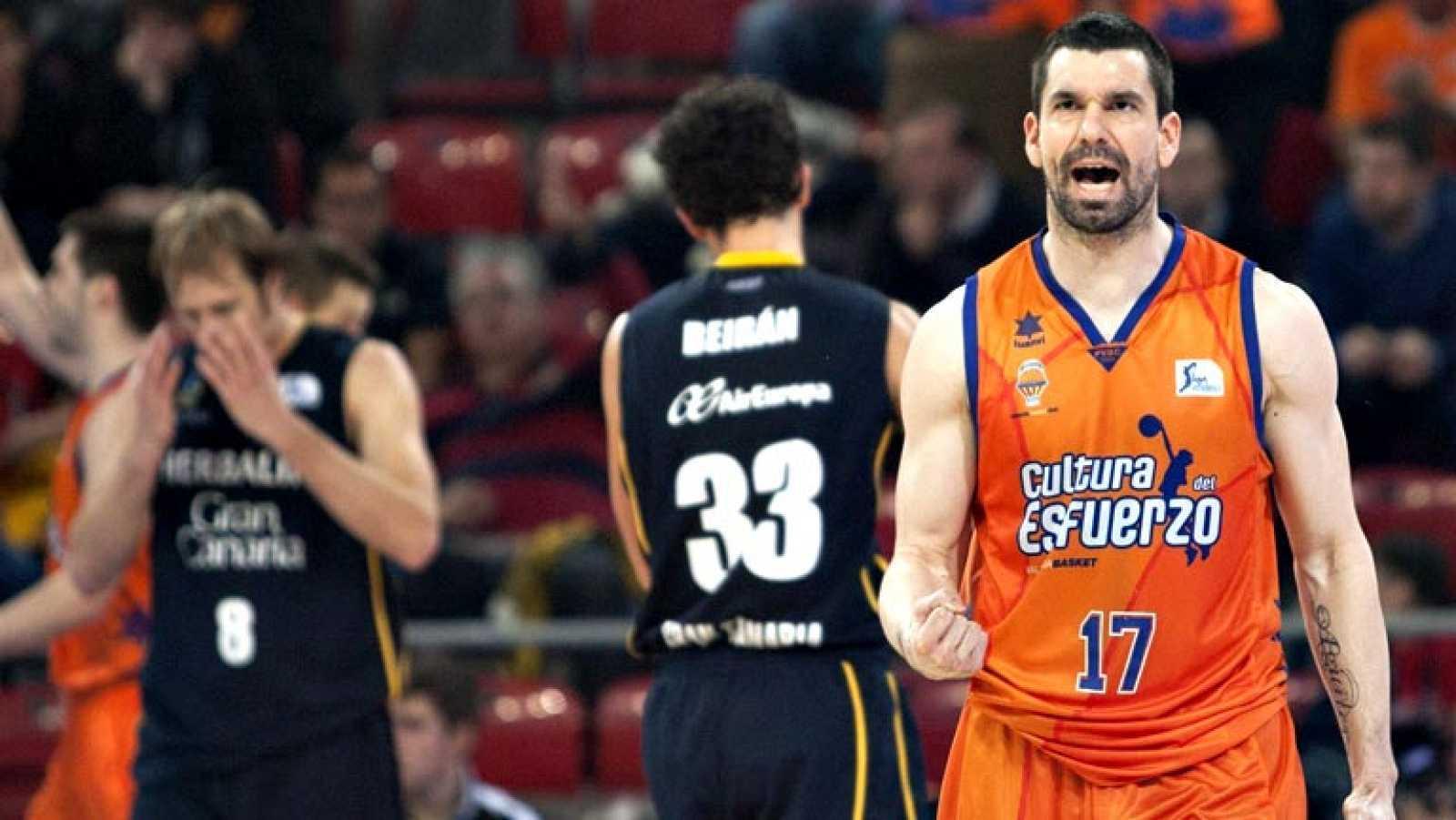 El Valencia Basket ha conseguido clasificarse para la final de la Copa del Rey de baloncesto, que se está celebrando en Vitoria, tras doblegar al Herbalife Gran Canaria (83-72), y se medirá al FC Barcelona Regal en la cuarta final de su historia.