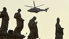El papa se traslada en helicóptero a Castelgandolfo
