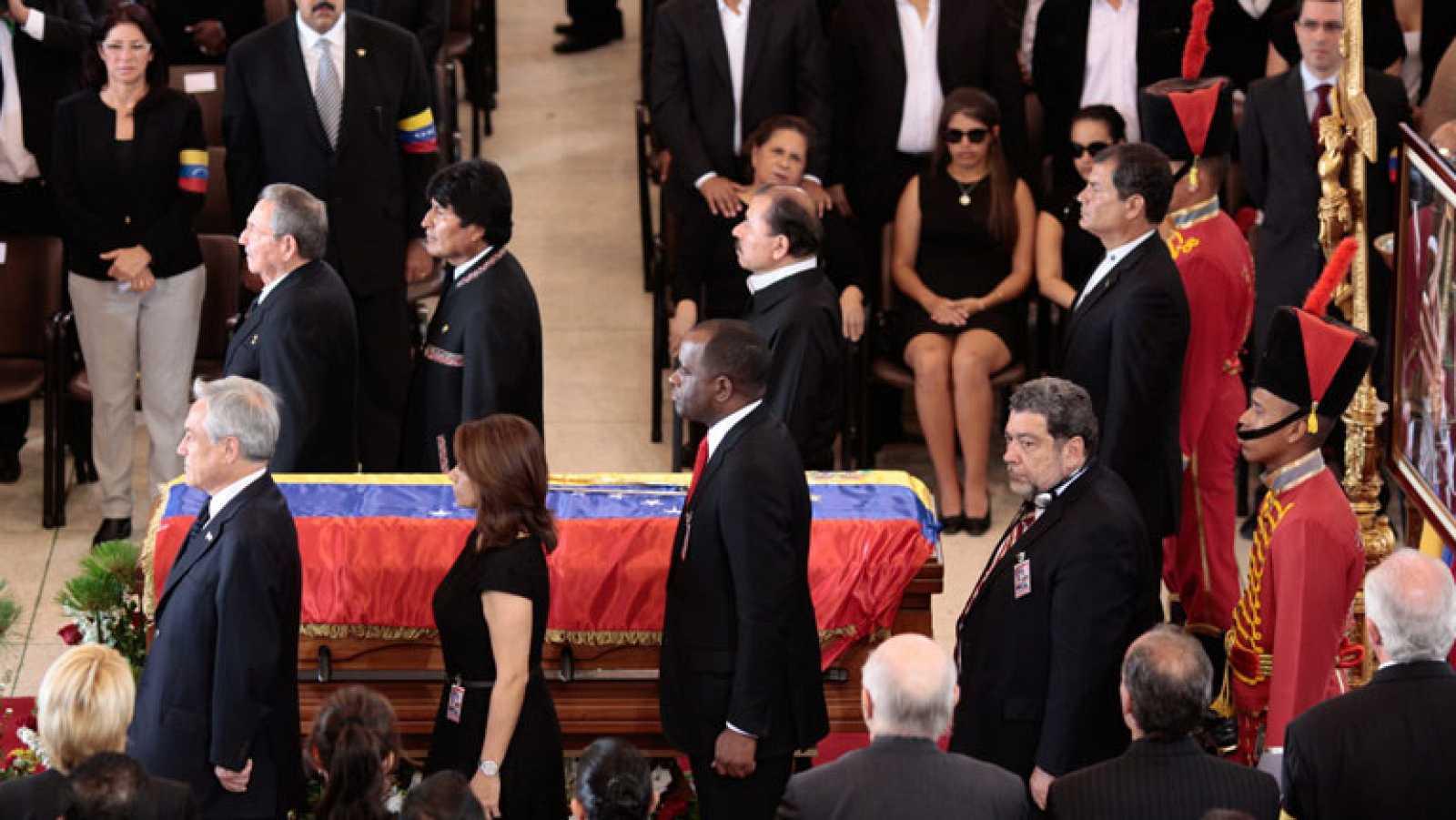 La Academia Militar acoge el funeral de Hugo Chávez