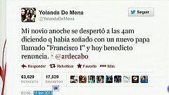 """El tuit """"profético"""" del nuevo papa arrasa en internet"""