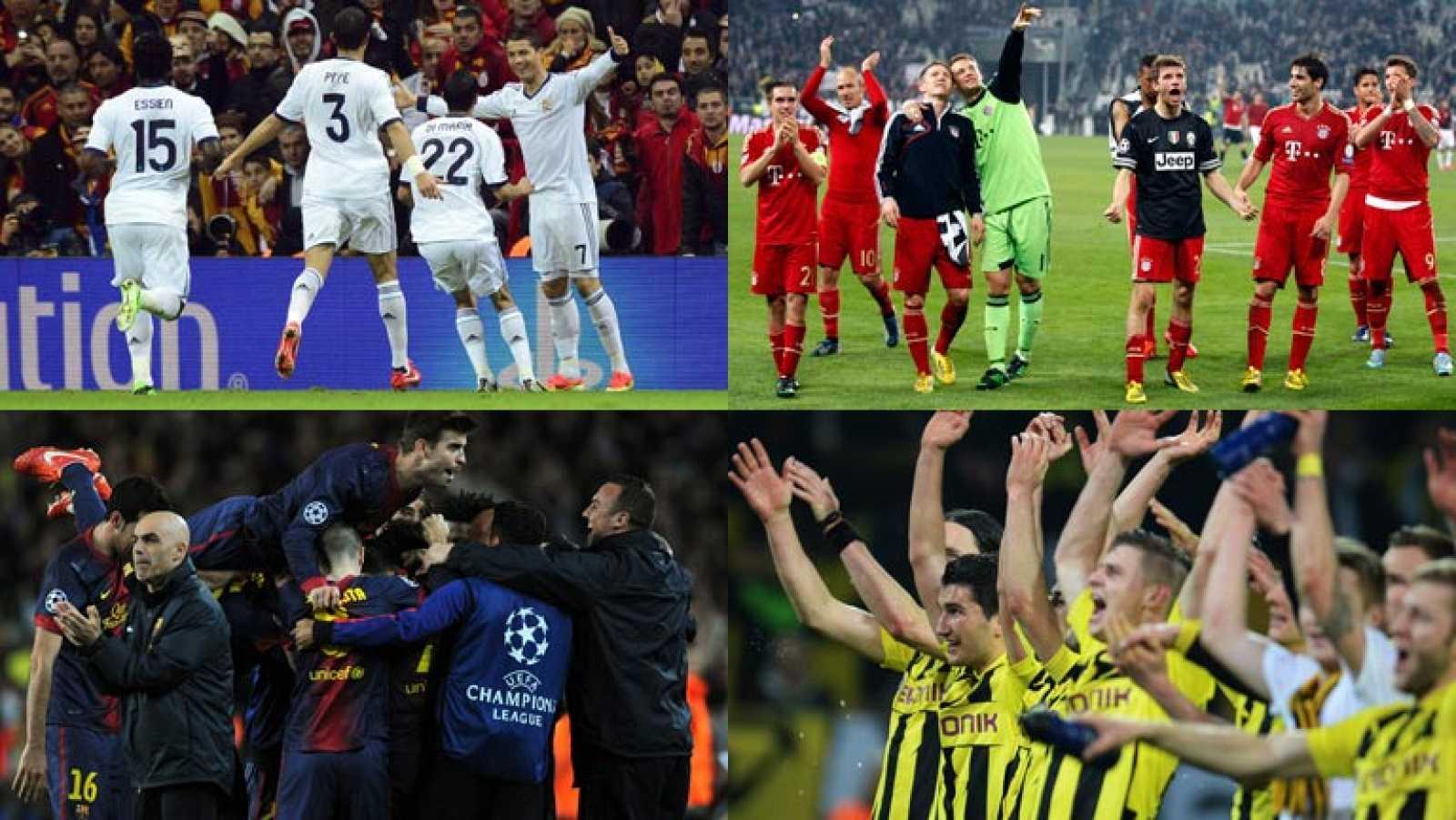 Real Madrid, Barcelona, Bayern y Borussia, en la recta final de la Champions