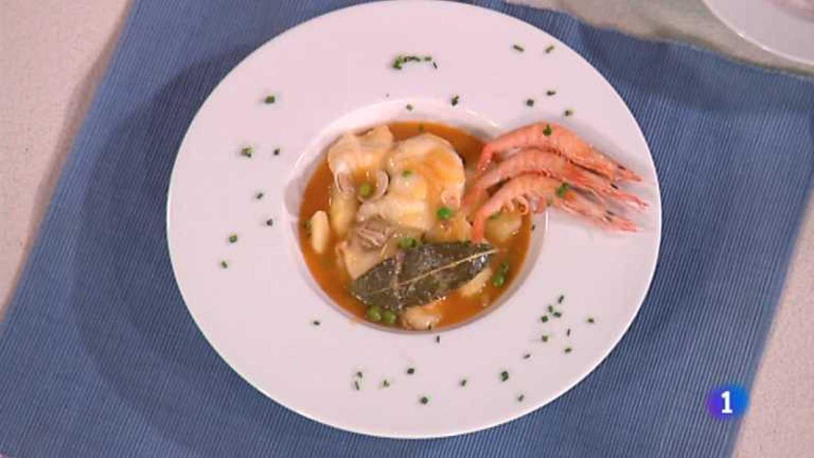 Cocina con Sergio - Caldero de patatas con pescado y marisco - ver ahora