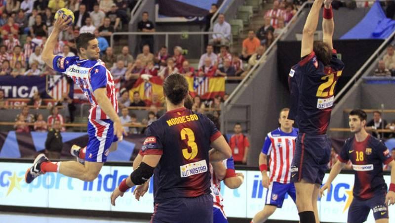 El Atlético gana 25-20 al Barça en la ida de cuartos de final de la Champions