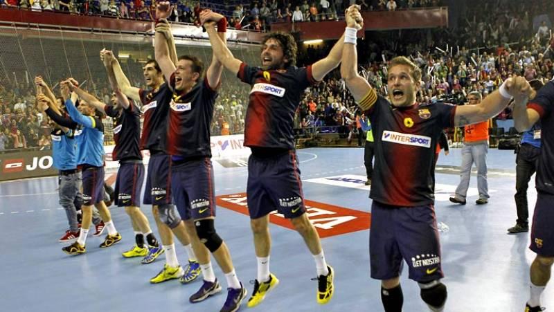 Liga de Campeones de Balonmano. Cuartos de final Vuelta: - FC Barcelona Intersport - BM At. Madrid.