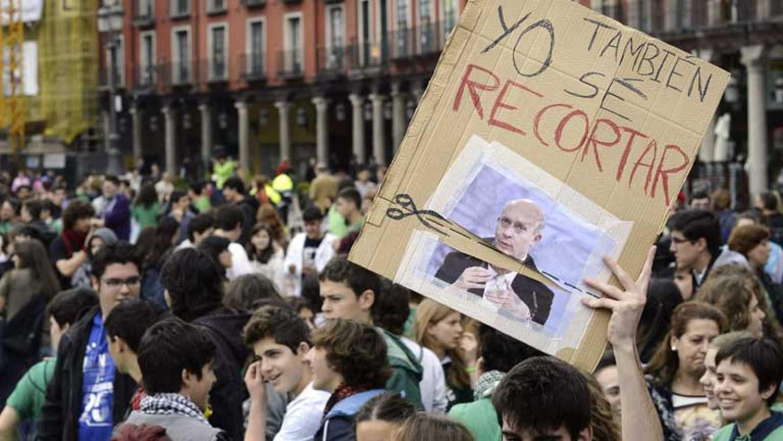 Diferentes manifestaciones y concentraciones en la huelga del sector educativo