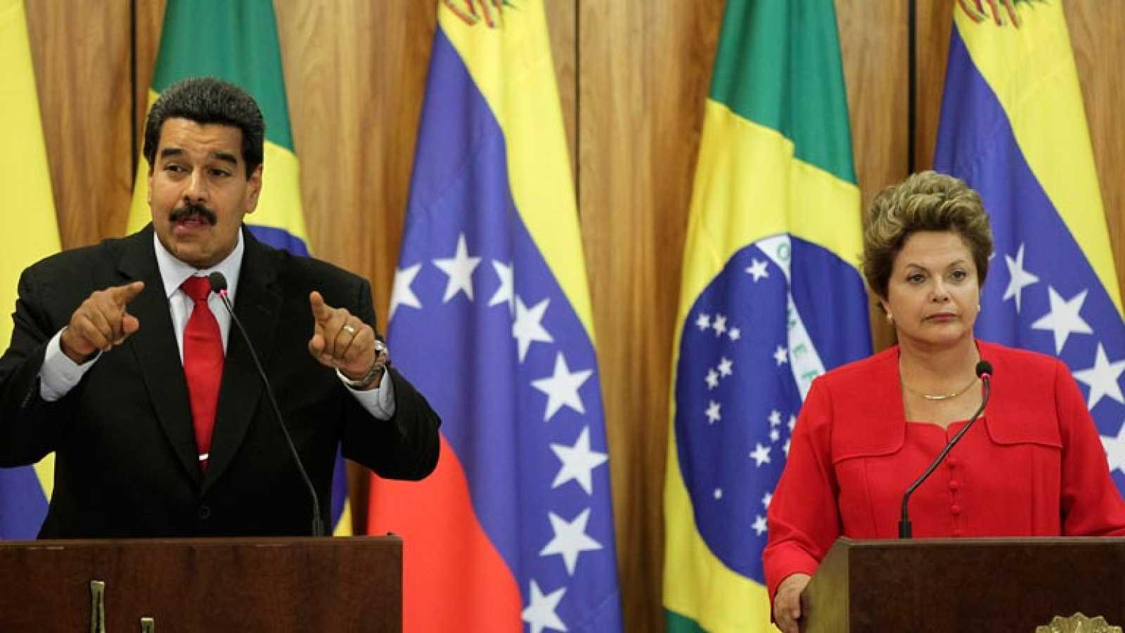 Nicolás Maduro finaliza su gira sudamericana recabando apoyo en Brasil