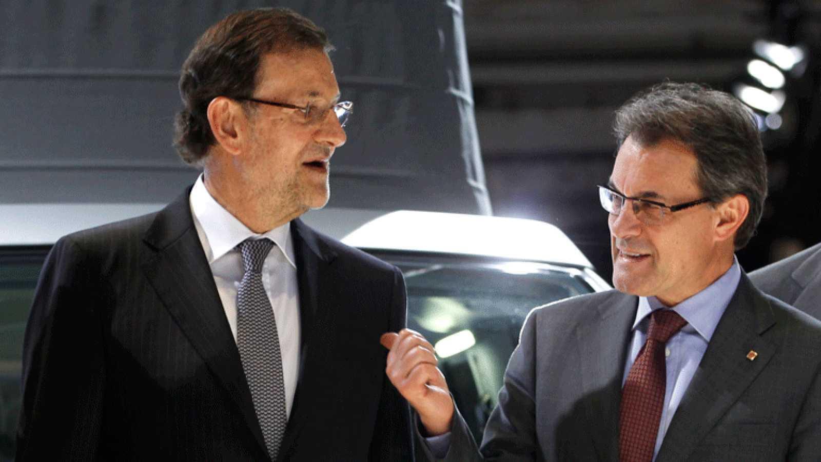 Encuentro de Rajoy y Mas