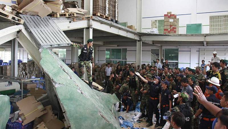 Tres muertos en Camboya al derrumbarse el techo de una fábrica de zapatos