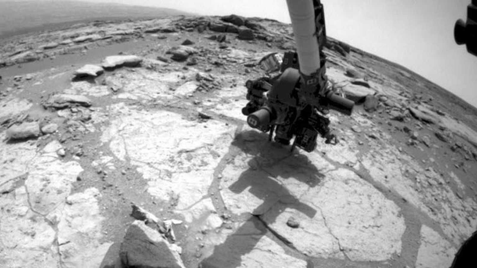 Perforación de la segunda roca por el Curiosity
