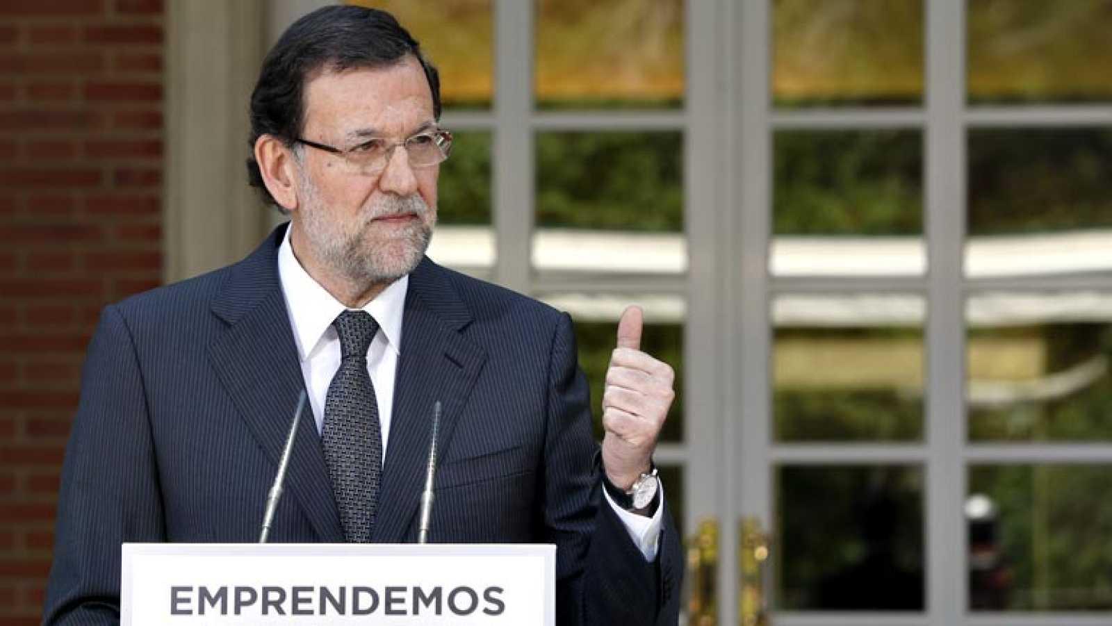 """Rajoy, a la banca: """"Espero que el que tenga que dar crédito esté a la altura de las circunstancias"""""""