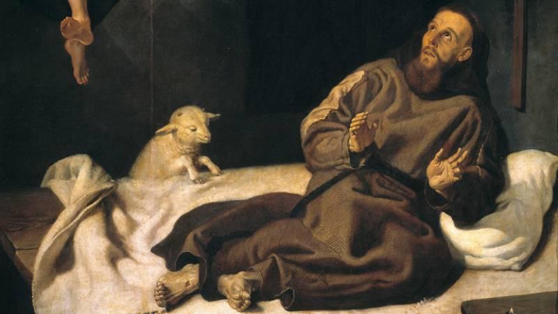 Mirar un cuadro - San Francisco confortado por un ángel músico (Ribalta)