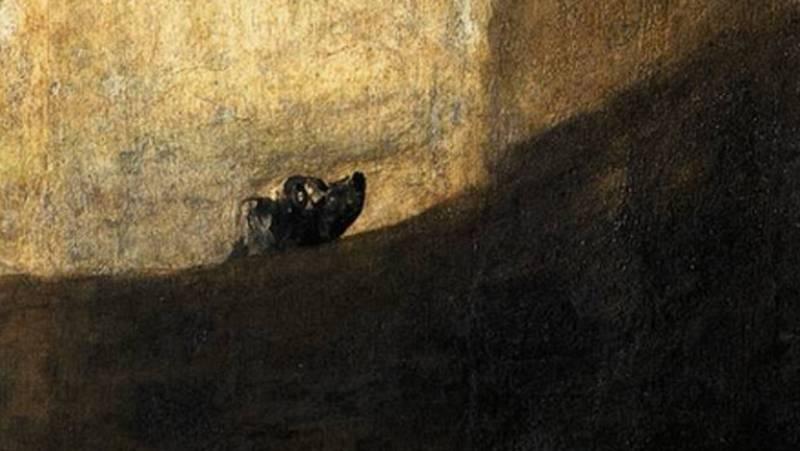 Mirar un cuadro - Perro enterrado en la arena (Goya)
