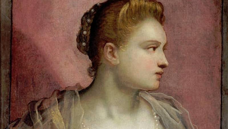 Mirar un cuadro - La dama que descubre el seno (Tintoretto)