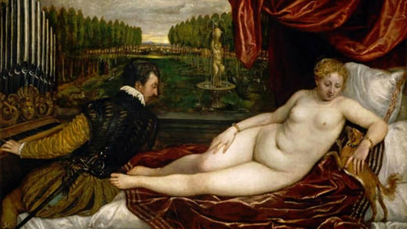 Mirar un cuadro - Venus recreándose en la música (Tiziano)