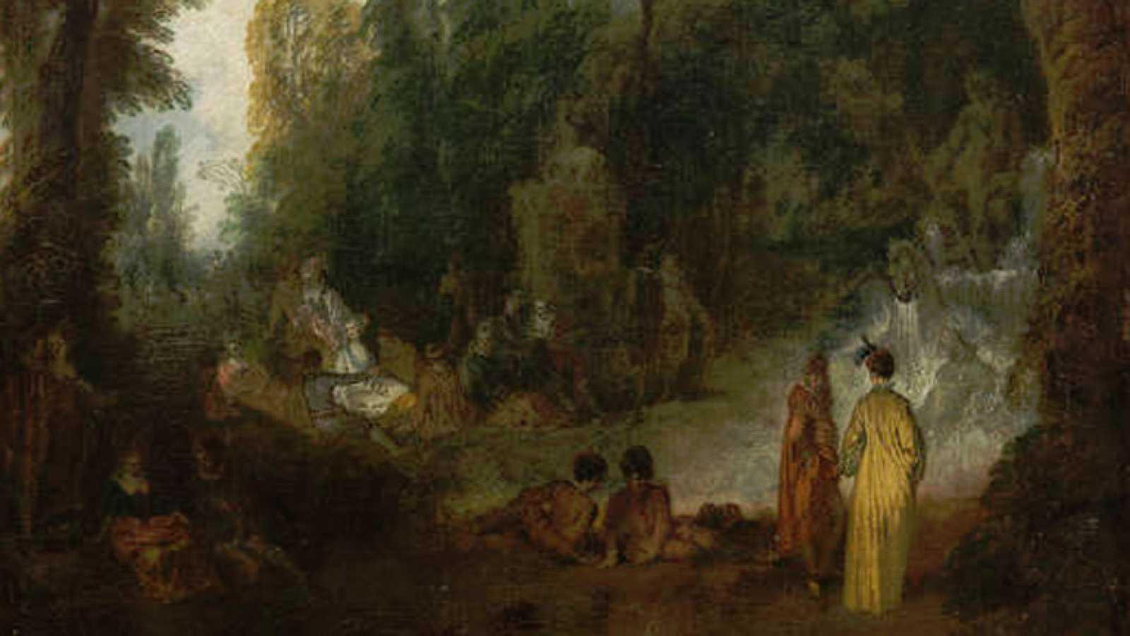 Mirar un cuadro - Fiesta en un parque (Watteau)
