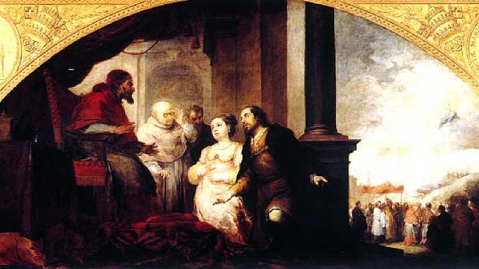 Mirar un cuadro - El patricio Juan y su esposa ante el Papa Liberio (Murillo)