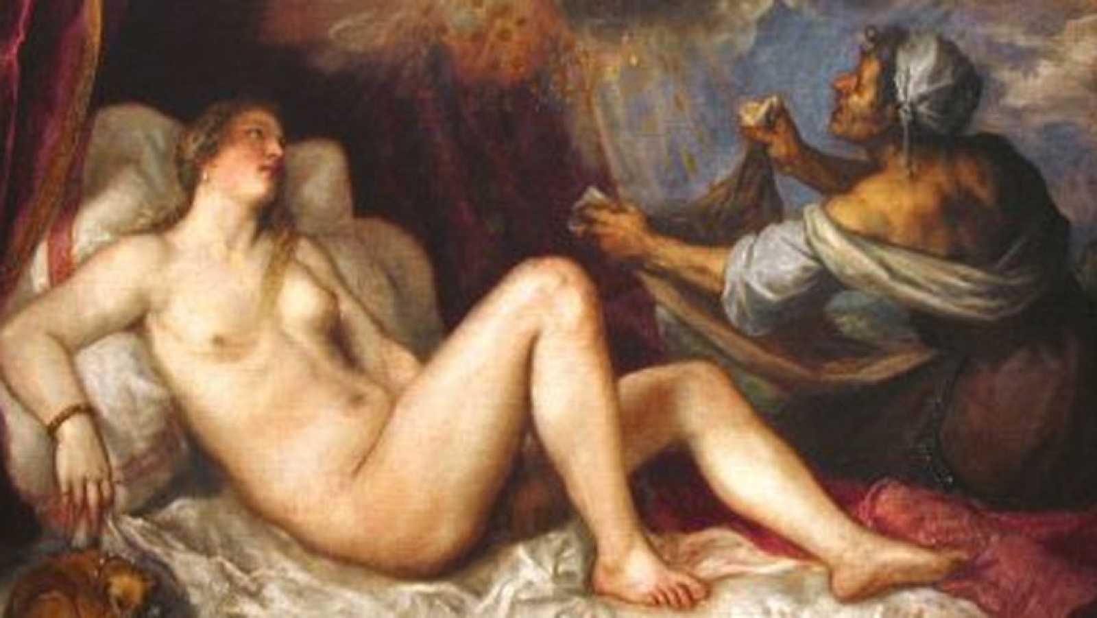 Mirar un cuadro - Dánae recibiendo la lluvia de oro (Tiziano)