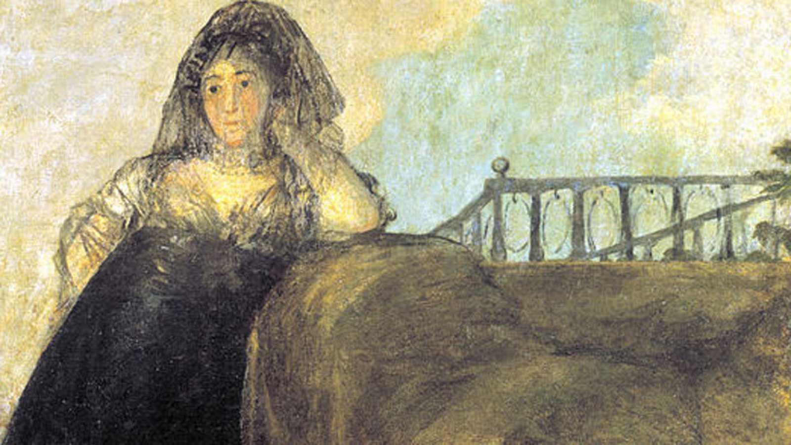 Mirar un cuadro - Una manola. Doña Leocadia Zorrilla (Goya)